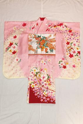 980ピンク流れ桜